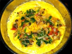 Moringa omelette